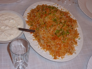 Iranian carrot rice - to die for!