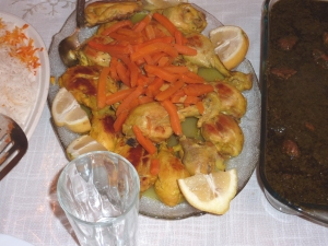 Traditional Iranian chicken dish usually eaten with carrot rice - an amazing combination