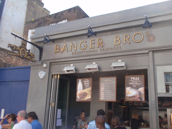 Banger Bros on a Sunny Day in Portobello Market
