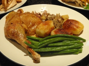 A close-up of Mrs. LF's main course