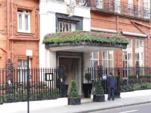 The facade of Gordon Ramsay at Claridge's