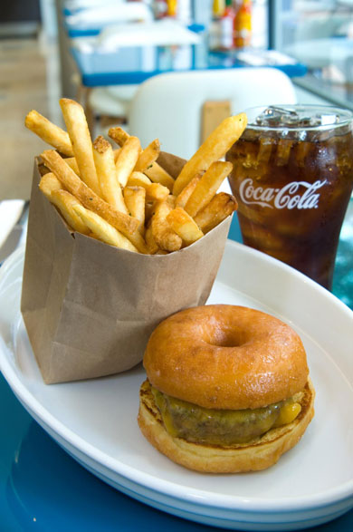 The Vodoo Doughnut Burger - the name says it all...