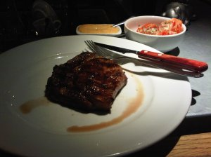 Grill Ruby's ribeye steak