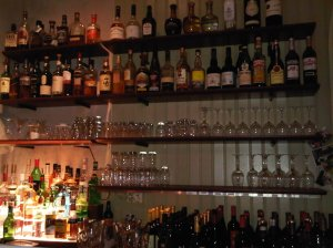 One half of the bar - they have some very decent spirits too...for instance, a 16-year old Lagavulin