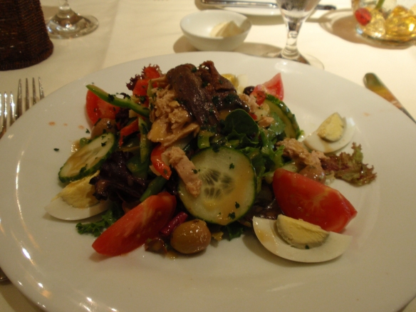 Bouchee also served up a mean salad nicoise during our lunch, just the way it should be