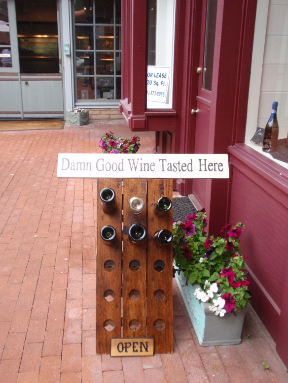 I found this invitation to taste wine in Carmel-by-the-Sea, California quite amusing