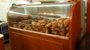 The bagel counter - the front of the 24-hour operation (you can go straight to the counter and order bagels 'to-go' as well)