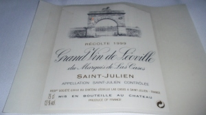 1999 Grand Vin de Léoville du Marquis de Las Cases (St. Julien, Bordeaux)