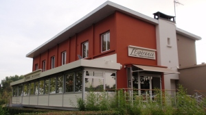 A view of the restaurant from the riverside
