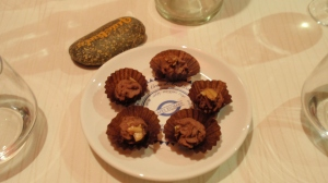 Petit fours of soft chocolate mousse