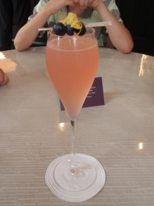 Champagne & Vodka – didn't think the two would match, but it was surprisingly good & refreshing