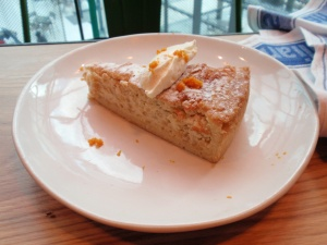 Gennaro's Amalfi orange tart: crisp pastry filled with ricotta, orange & candied fruit, served with mascarpone