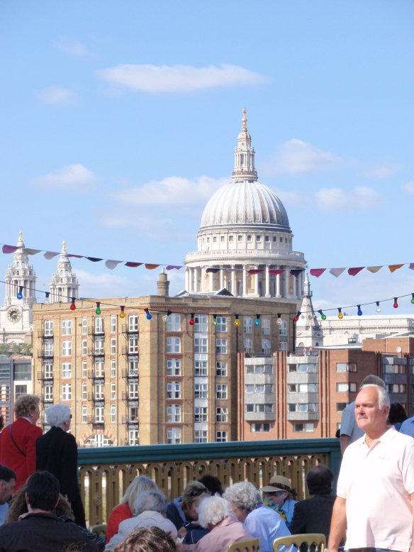 We had a spectacular view of St. Paul's from the bridge...