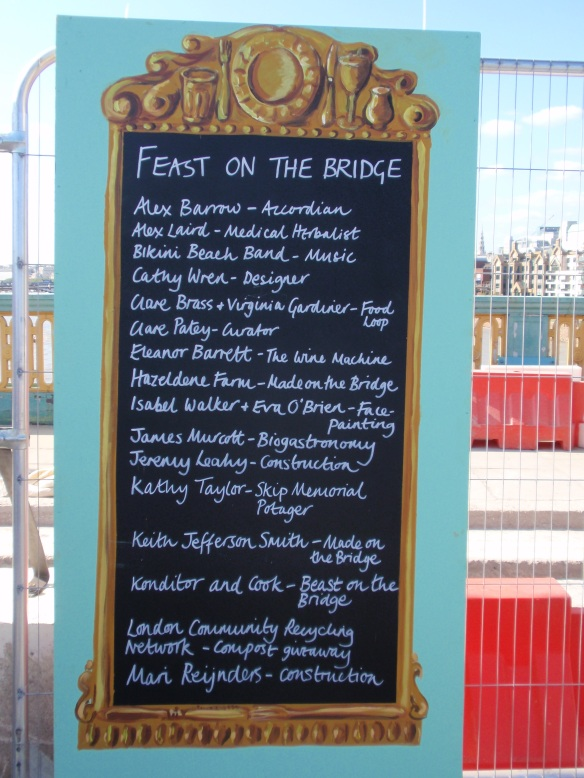 Let the feast begin - a list of half the purveyors at the big event on Southwark Bridge