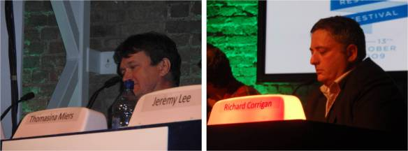 Rowley Leigh (Le Café Anglais) seemed be by far the most knowledgeable of the chefs, while Richard Corrigan only seemed to know the answers to questions he wasn't allowed to answer, continuously ringing his buzzer during the other side's bonus questions, which was also quite comical