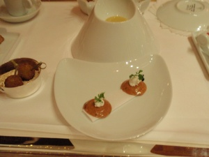 Element 1: Petite Tarts with Goat's Cheese