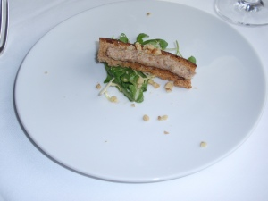 Amuse Bouche: Duck Rillette on Brown Toast