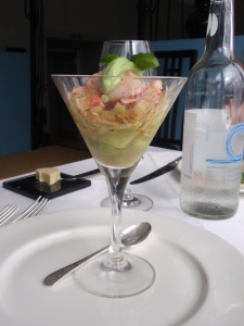 Starter 2: Cocktail of Scottish Lobster and Avocado with a Lemon Jelly