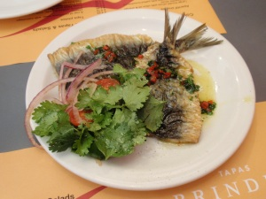 Pan Fried Sardines with Red Onion Salad & Chilli (£6.50)
