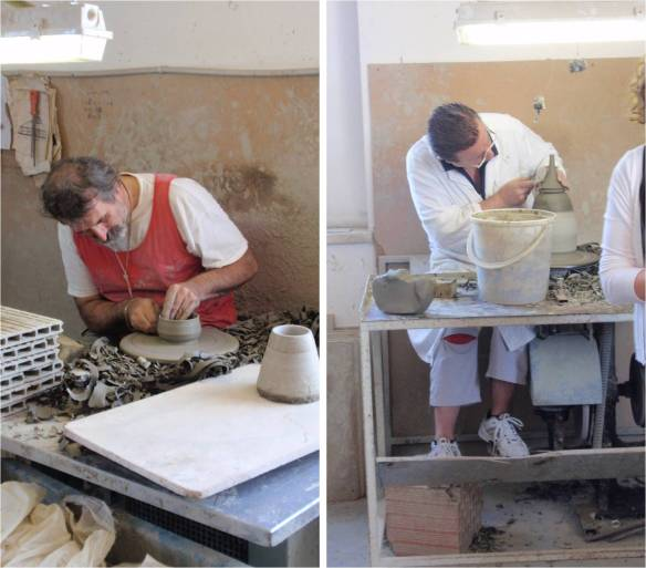 ceramics makers in deruta workshop