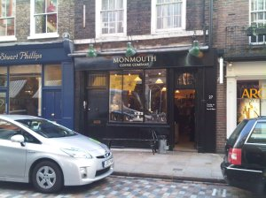 The original Monmouth coffee shop in Covent Garden