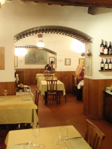 traditional décor of da ventura restaurant in sansepolcro