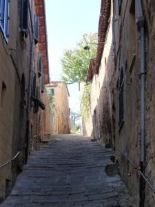 pedestrian street in montalcino