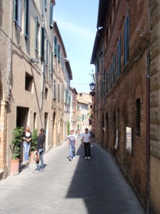 streetscape in montalcino
