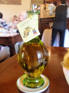 banfi olive oil at taverna dining room