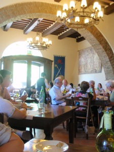 taverna dining room at castello banfi