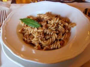 fusilli with chianina beef