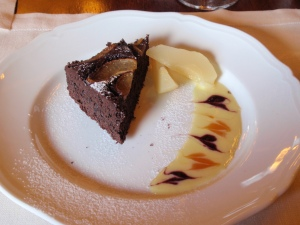 pear & chocolate tart