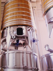 new modern vats for white wine at banfi