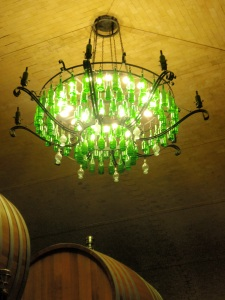 cool light fixture down in the cellar at banfi