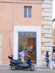 The GROM facade in Perugia