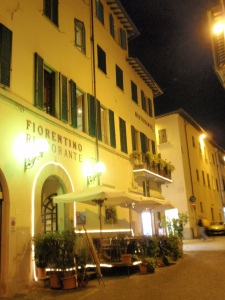 fiorentino's night-time facade