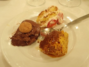 my home-made desserts at ristorante fiorentino