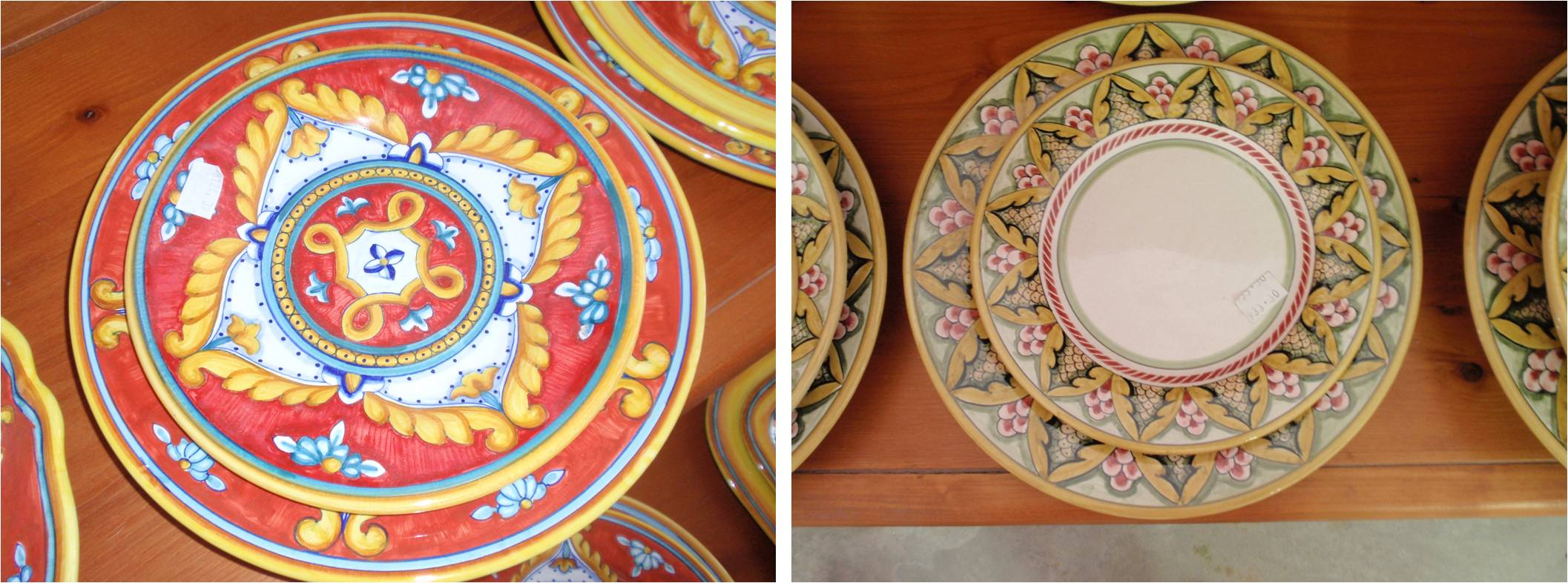 traditional ceramic plates from deruta . & An Indian Summer u0026 Autumnal Eating in the Heart of Italy | Laissez Fare