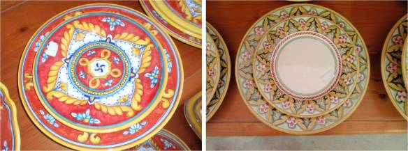 traditional ceramic plates from deruta