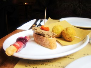Our plate of cicchetti
