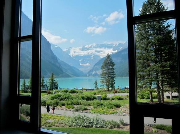 View from Afternoon Tea at The Fairmont Lake Louise