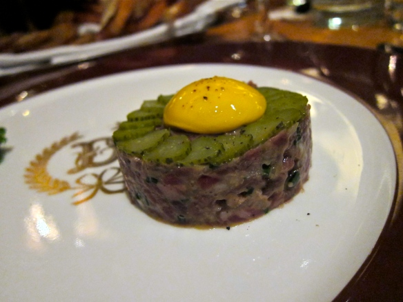 Steak Tartare (à la Delmonico) at Torrisi